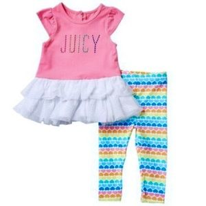 Juicy Couture tutu outfit Rainbow Pink Size 12M